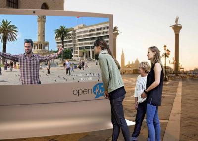 Borne interactive Open Hi vue Venise